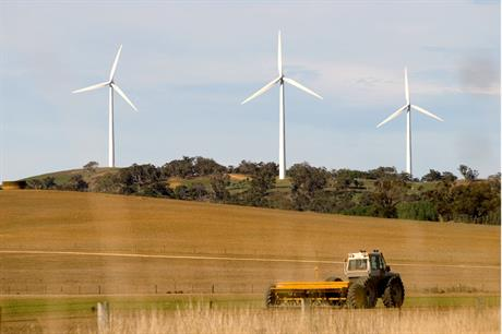 Growth… Australia has installed 406MW of new wind capacity so far in 2013