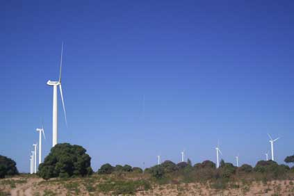An artists rendering of the 125MW wind farm planned for Taïba Ndiaye
