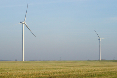 Fonds-de-Fresne Somme département, Picardie region. France has 5GW of wind power online.