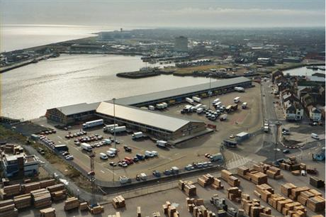 The port of Grimsby