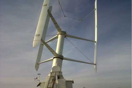 The 35kW prototype of the Vertiwind turbine