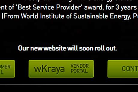 Wind World India... despite rebranding on 1 January the company does not have a complete website