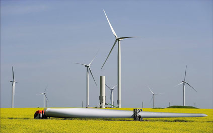 A separate CEZ wind farm project at Fantanele, Romania -