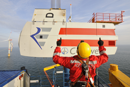 The Nordsee Ost project uses Repower 5M turbines 