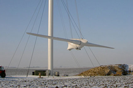 A Vergnet turbine being installed