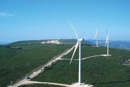 Wind farms such as the with projects such this project in Candeeiros, north of Lisbon