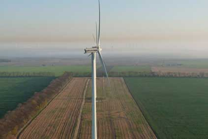 Vestas V90 2MW turbine is used on the project