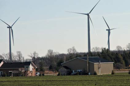 The 199.5 MW Melancthon EcoPower Centre is Canada's largest wind farm so far