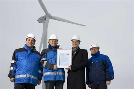 REpower receives compliance certificate for the MM82 2MW turbine