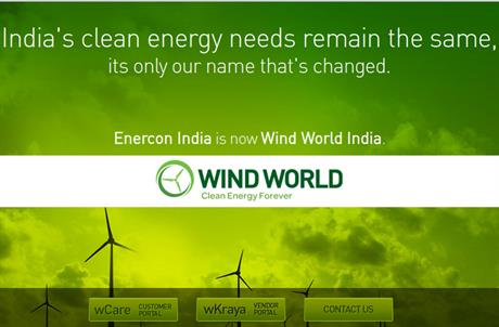 Enercon India has rebranded as World Wind India
