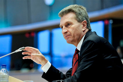 EU EC commissioner for energy Günther Oettinger