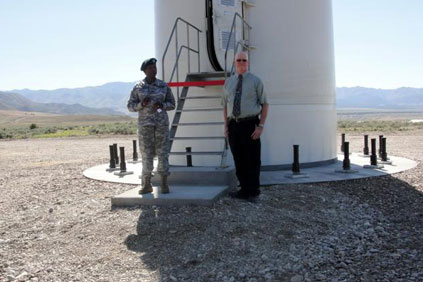 The US Army so far only has two turbines including this 1.5MW machine in Utah