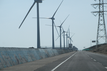 The Kamisu wind farm on Japan&#39;s east coast withstood the tsunami
