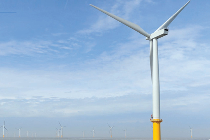 The completion of the UK&#39;s Gunfleet Sands wind project helped push offshore electricity generation