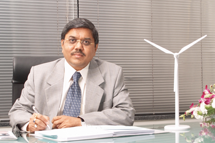 Suzlon chairman Tulsi Tanti... profits reduced by Debt problems, Chinese grid delays and a monsoon