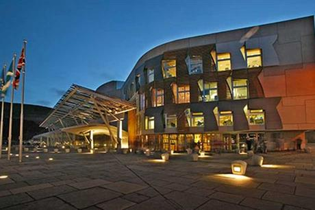 Independence referendum... the Scottish Parliament building in Edinburgh