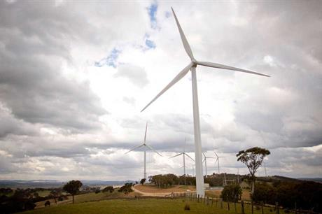 Origin wanted a RET reduction despite owning the Cullerin wind farm (pictured)