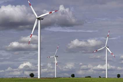 The new turbine has a 15% increase power output compared to the previous 2.5MW turbine (pictured)