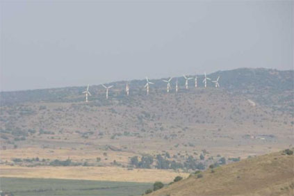 Israel&#39;s wind farm on the Golan Heights