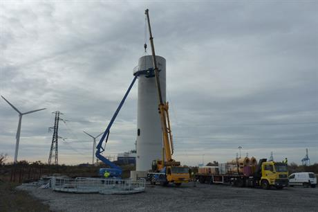 The Vertiwind turbine is being tested in the south of France