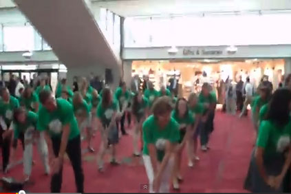 GE's flash mob took Windpower 2012 by surprise