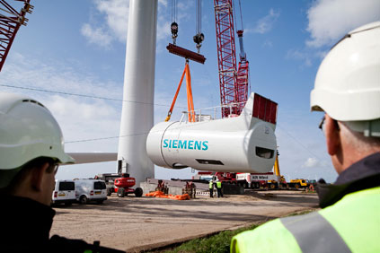 Siemens has been hit by high R&D costs on products like its 6MW offshore turbine
