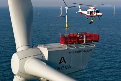 The French offshore projects could use Areva's M5000 turbines