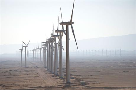 The Zafarana wind farm in Egypt