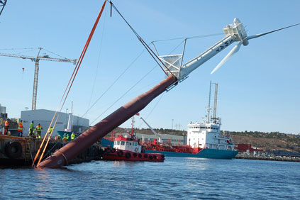 Sway's floating test turbine was installed in March