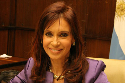 Argentina&#39;s President Cristina Fernandez de Kirchner announced the Genren deals in Buenos Aires