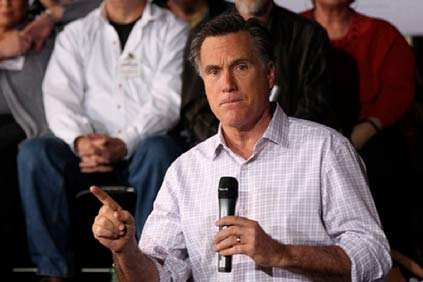 Former presidential candidate Mitt Romney on the campaign trail