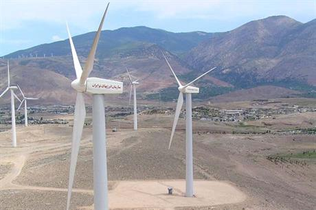 A number of turbines based on the Vestas 660kW model are installed in Iran