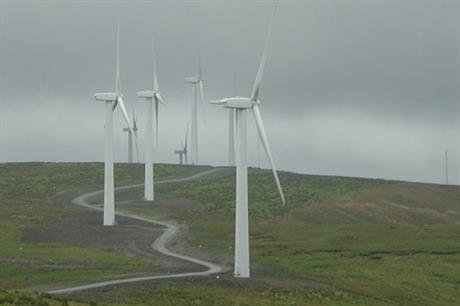 Falck's projects include Cefn Croes wind farm in Wales