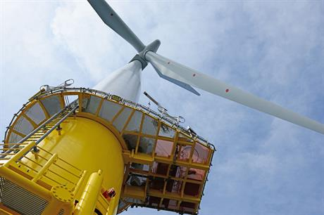 The first turbine to have generated power at the massive offshore site