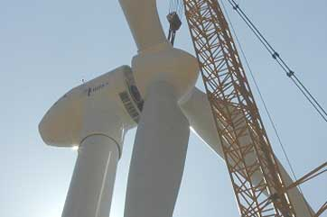 MTOI turbine — the first in Jordan