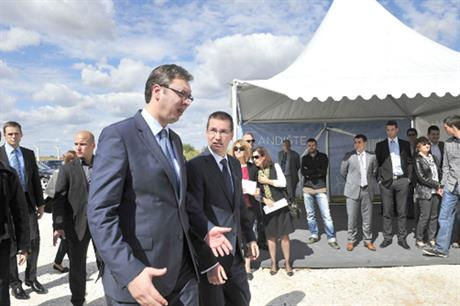 Serbian deputy prime minister opened the site