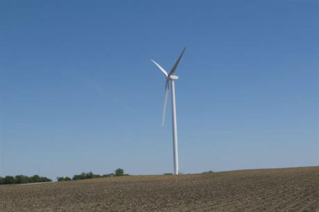 A Goldwind 2.5MW turbine at the Shady Oaks wind farm in Illinois