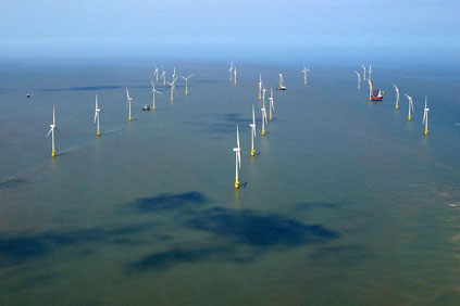 The 60MW Scroby Sands project is located off the Norfolk coast