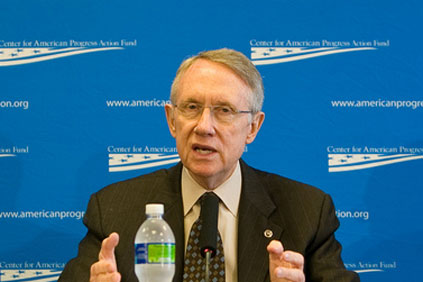 A mandatory target needs to be added to a pared-down energy bill released by Senate Majority Leader Harry Reid (pictured)