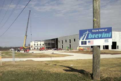 Brevini's new turbine gearbox factory is under construction