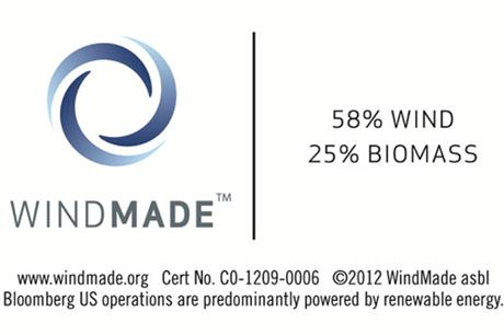 Bloomberg US is one of the few major companies to be accredited by WindMade