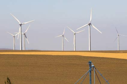 Enron 1.5 MW turbines in use at this Oregon wind farm