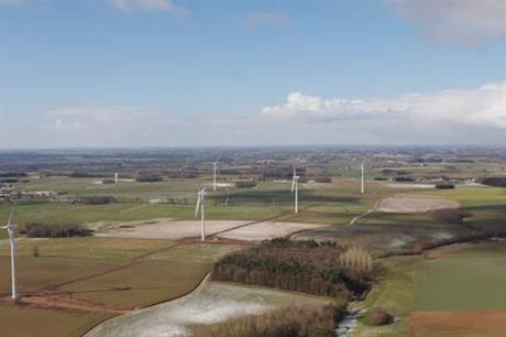 The La Butte du Fraus wind farm... French onshore projects in the zones have been restricted to five turbines