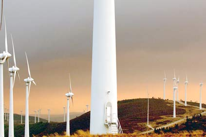 EDPR's Cadafaz wind farm in its home market of Portugal.   With the acquisition  of an Italian wind portfolio, the group is now also active in nine foreign countries.