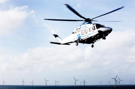Good match: the small capacity and rapid response time of helicopters fits well with the dispersed nature of offshore wind turbines