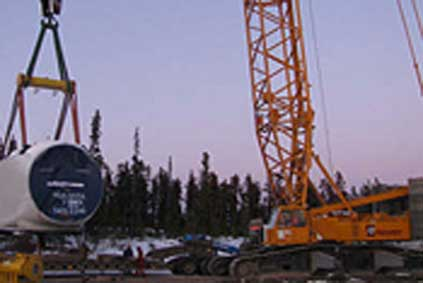 Dokie Wind Project under construction