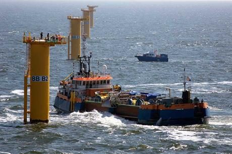 Growing sector… Belgium has 706MW offshore capacity and five more projects in development (pic: Van Oord — Mennomulder.com)