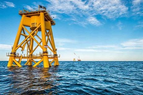 Locally produced… Block Island foundations were made in Gulf of Mexico