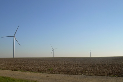 Erg Renew's 9.2 MW Le Carreau wind farm in France.   After entering the French market in 2007, the Italian group is now eyeing opportunities to the east