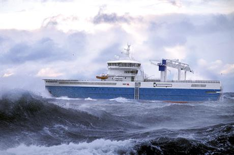 Long and slender… The changed hull shape contributes to ability to provide turbine access in waves up to 3.1 metres high